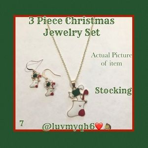 3 Piece Jewelry Set Christmas Stocking